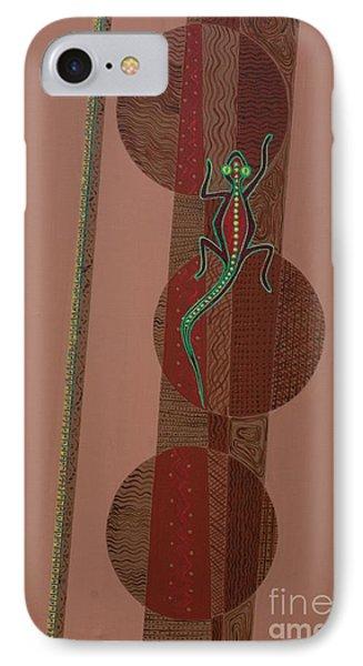 Aboriginal Lizard Phone Case by Kaaria Mucherera
