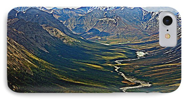 IPhone Case featuring the painting Above The Arctic Circle by John Haldane