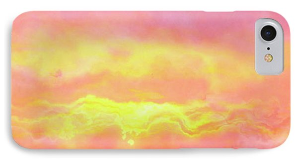 Above The Clouds - Abstract Art IPhone Case by Jaison Cianelli