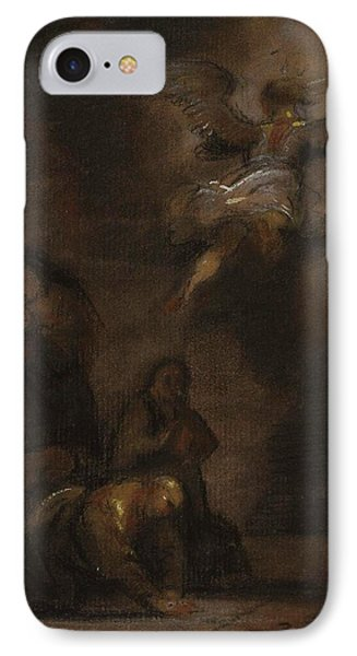 Abraham And The Angel IPhone Case by Jacob Miller