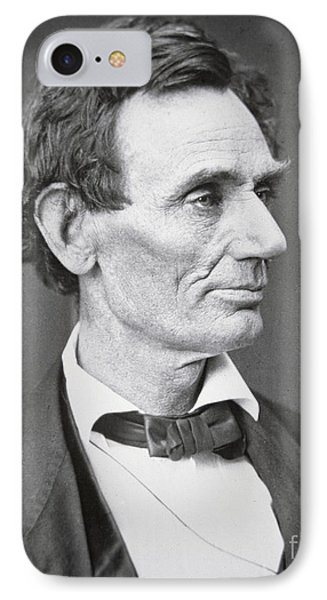 Abraham Lincoln IPhone Case by Alexander Hesler