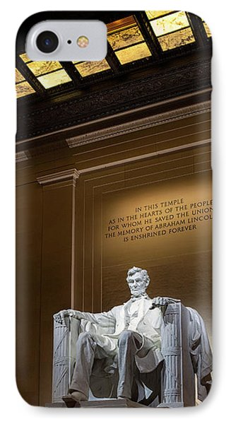 Abraham Lincoln IPhone 7 Case by Andrew Soundarajan