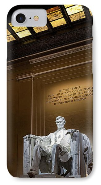 IPhone Case featuring the photograph Abraham Lincoln by Andrew Soundarajan