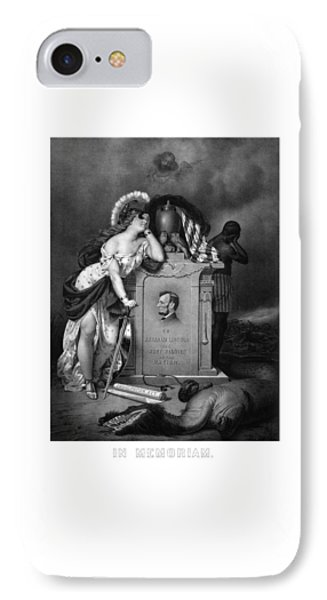 Abraham Lincoln In Memoriam  IPhone Case
