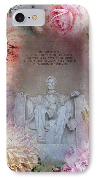 Abraham Lincoln Memorial At Spring IPhone 7 Case
