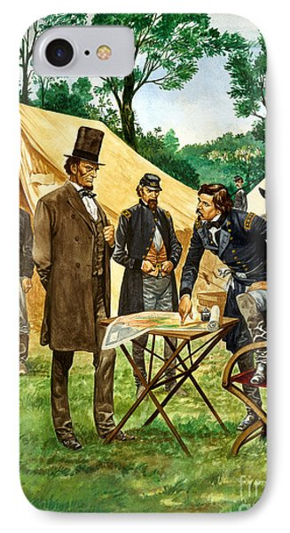 Abraham Lincoln Plans His Campaign During The American Civil War  IPhone Case by Peter Jackson
