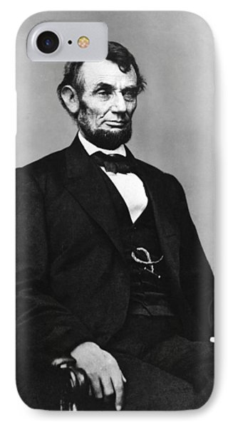 Abraham Lincoln Portrait - Used For The Five Dollar Bill - C 1864 Phone Case by International  Images