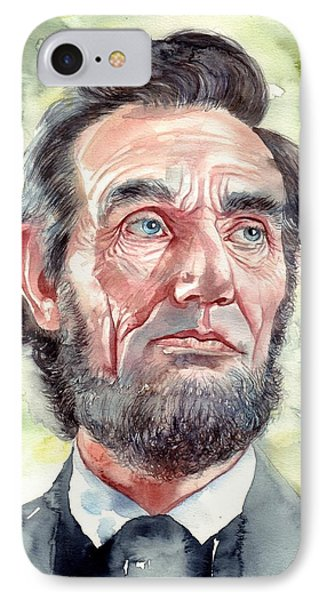 Abraham Lincoln iPhone 7 Case - Abraham Lincoln Portrait by Suzann's Art