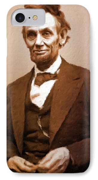 Abraham Lincoln, President Of The Usa By Mary Bassett IPhone Case by Mary Bassett