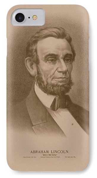 Abraham Lincoln - Savior Of His Country IPhone Case by War Is Hell Store