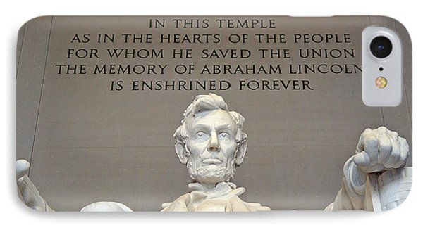 Abraham Lincoln Statue - 2 IPhone Case by Tom Doud