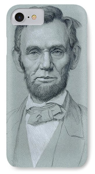 Abraham Lincoln IPhone Case by Swann Smith