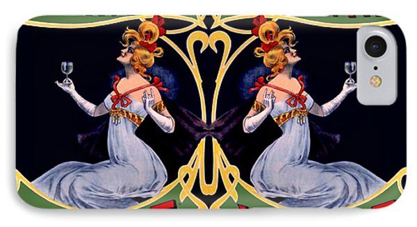 Absinthe Lady Ad Phone Case by Marianne Dow