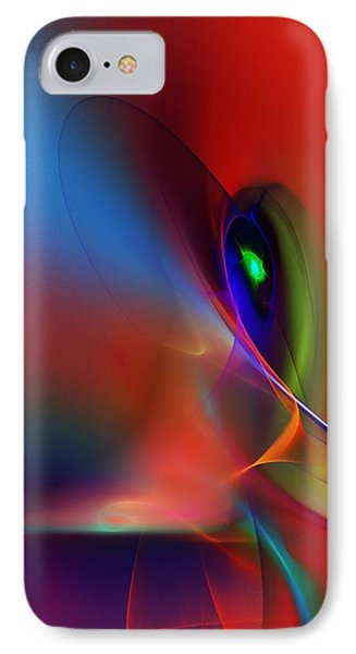 Abstract 042612a IPhone Case by David Lane