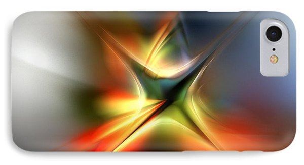 Abstract 060310a IPhone Case by David Lane