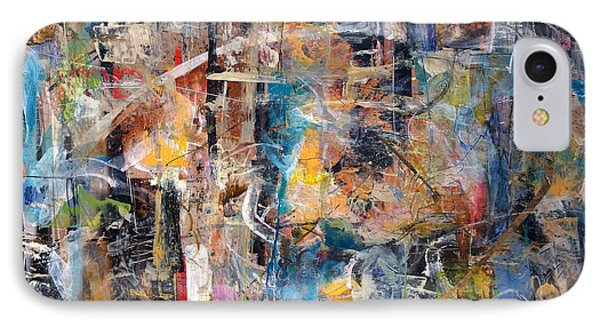IPhone Case featuring the painting Abstract #101514 by Robert Anderson