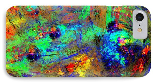 Abstract 102210a IPhone Case by David Lane