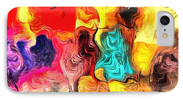 Abstract 103 IPhone Case by Barbara Snyder