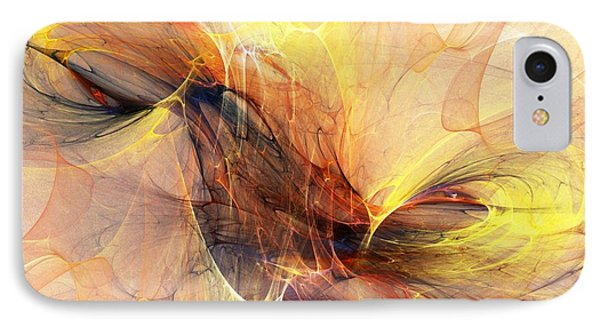 Abstract 111110a IPhone Case by David Lane