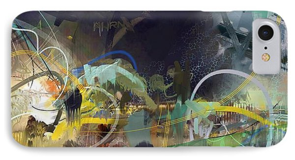 IPhone Case featuring the painting Abstract 11715 by Robert Anderson