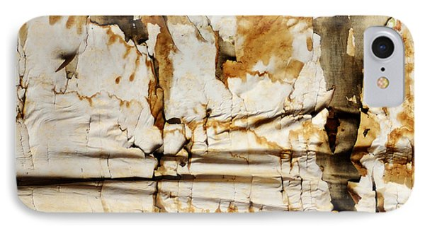 IPhone Case featuring the photograph Abstract 1317 Old Wallpaper As Landscape by Kae Cheatham