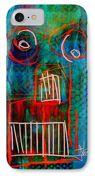 IPhone Case featuring the painting abstract 2 June6 2015 by Jim Vance
