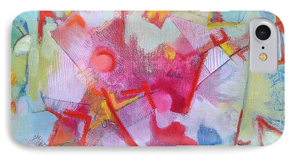 Abstract 2 With Inscribed Red Phone Case by Susanne Clark