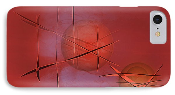 Abstract 21 IPhone Case by John Krakora