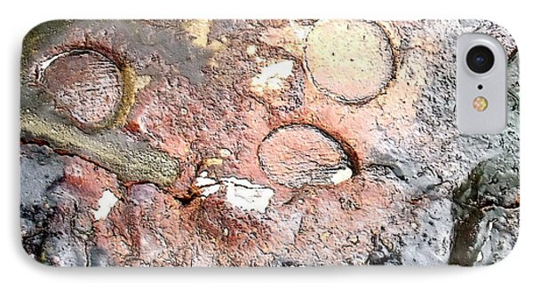 abstract 2317 Moonscape Pottery IPhone Case