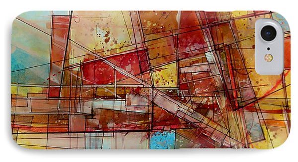 IPhone Case featuring the painting Abstract #240 by Robert Anderson