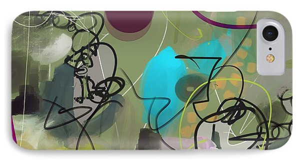 IPhone Case featuring the painting Abstract #31315 by Robert Anderson