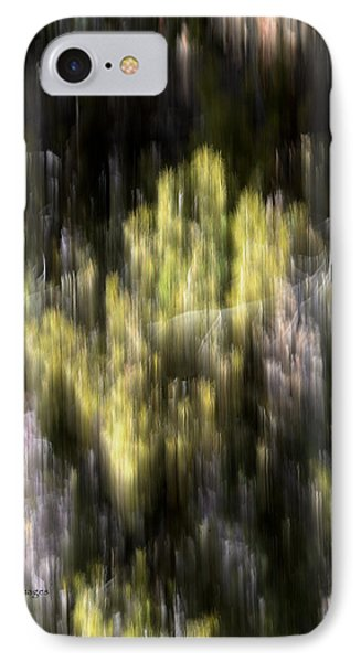 IPhone Case featuring the photograph Abstract 3317 In The Forest by Kae Cheatham