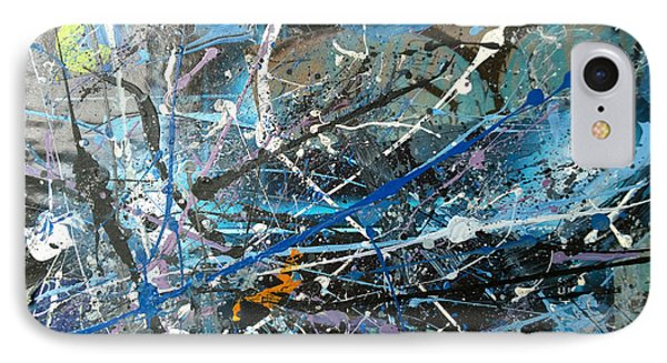 IPhone Case featuring the painting Abstract #419 by Robert Anderson