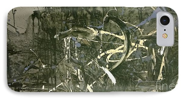 IPhone Case featuring the painting Abstract #42015 Or Lock Ness In Town by Robert Anderson