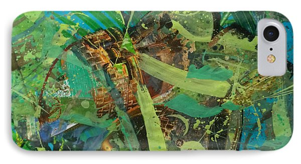IPhone Case featuring the painting Abstract #493 by Robert Anderson