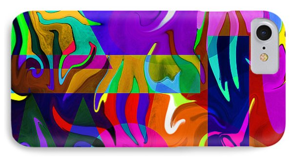 Abstract 7d IPhone Case by Timothy Bulone