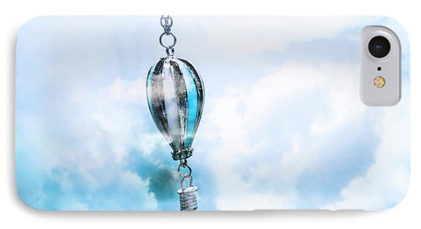 Abstract Air Baloon Hanging On Chain IPhone Case by Jorgo Photography - Wall Art Gallery