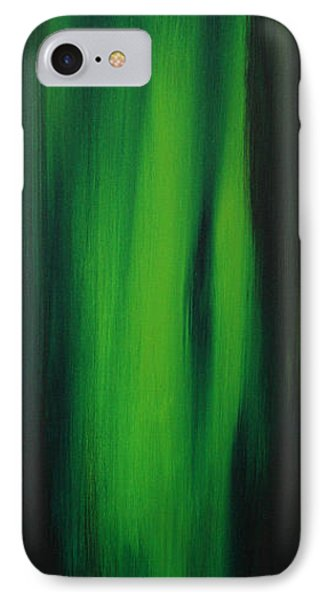 Abstract Art Colorful Original Painting Winter Passion - Green By Madart Phone Case by Megan Duncanson