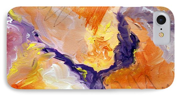 Abstract Art - Fire River IPhone Case by Karyn Robinson
