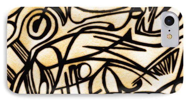 Abstract Art Gold 2 IPhone Case by Sumit Mehndiratta