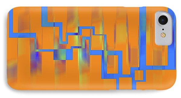 Abstract Art Orange IPhone Case by Ralph Klein