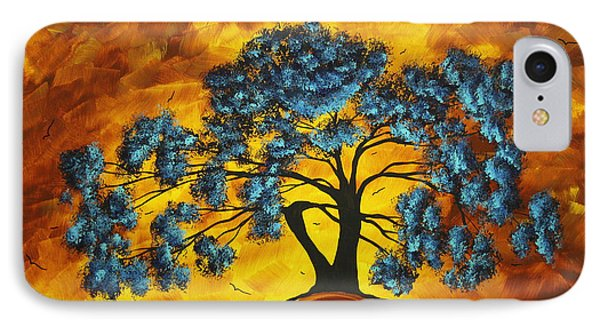 Abstract Art Original Landscape Painting Dreaming In Color By Madartmadart Phone Case by Megan Duncanson