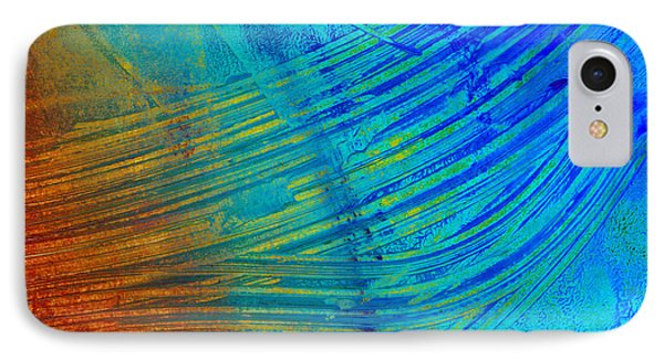 Abstract Art  Painting Freefall By Ann Powell Phone Case by Ann Powell