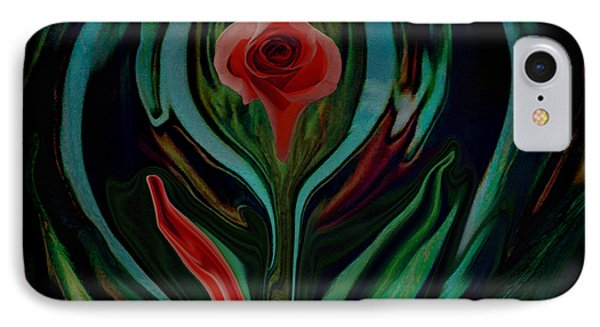 abstract Art The Rose A Symbol Of Love  IPhone Case