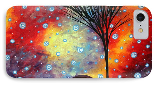 Abstract Art Whimsical Landscape Painting Morning Bliss By Madart Phone Case by Megan Duncanson