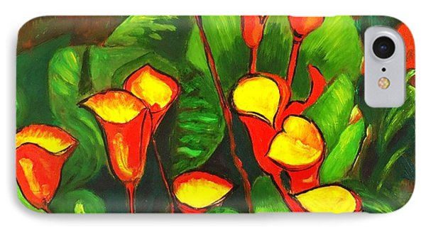Abstract Arum Lilies IPhone Case by Caroline Street