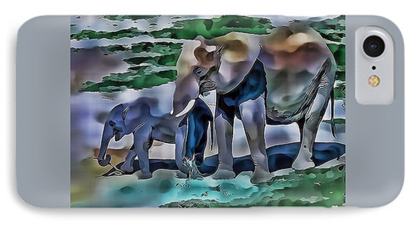 Abstract Baby Elephant  IPhone Case