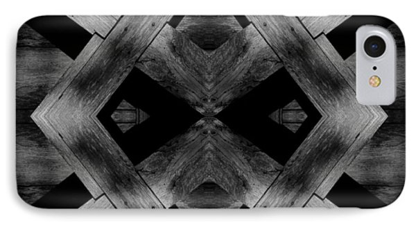 IPhone Case featuring the photograph Abstract Barn Wood by Chris Berry