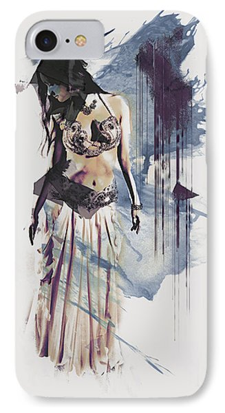Abstract Bellydancer IPhone Case by Galen Valle