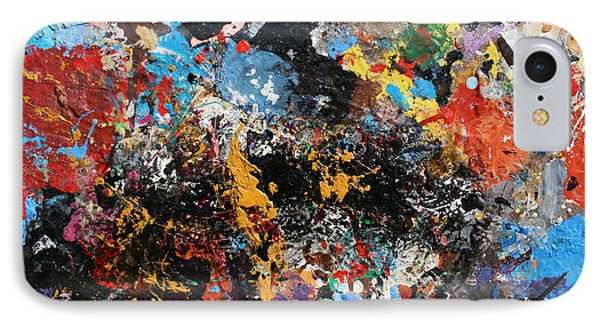 IPhone Case featuring the painting Abstract Blast by Melinda Saminski